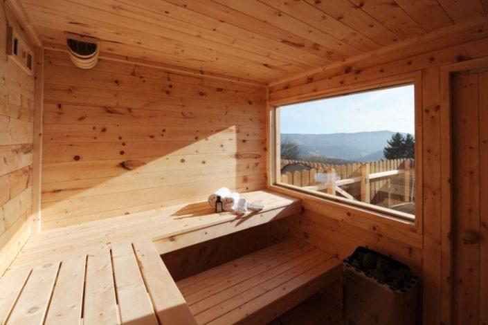Sauna mit Panoramverglasung