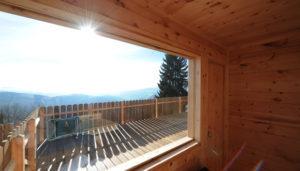 Glühwürmchenhütte - Sauna mit Panoramaverglasung