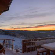 Neuschnee und Sonnenschein hier auf der Glühwürmchenhütte