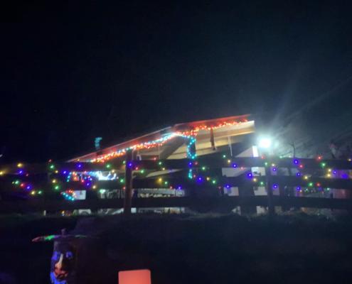 Romantische Hütte Weichnachtsbeleuchtung