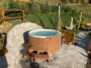 romantikhütte mit hot pot steiermark